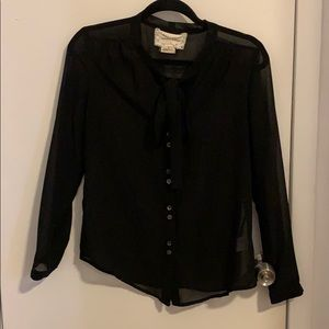 Urban outfitters pussy bow blouse